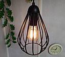 """Подвесной металлический светильник, современный стиль, loft, vintage, modern style """"KAPLIA-M"""" Е27  черный цвет, фото 3"""