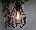 """Подвесной металлический светильник, современный стиль, loft, vintage, modern style """"KAPLIA-M"""" Е27  черный цвет, фото 5"""