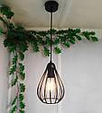"""Подвесной металлический светильник, современный стиль, loft, vintage, modern style """"KAPLIA-M"""" Е27  черный цвет, фото 6"""