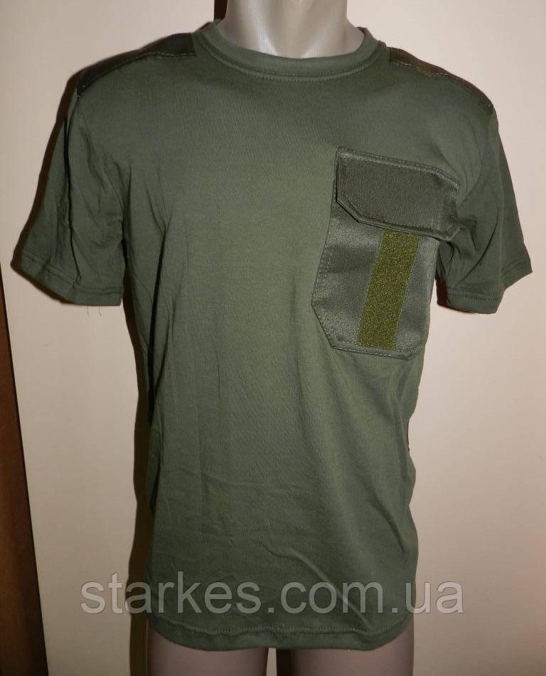 Футболки форменные Оливанагрудной карман и липучка, 40 - 58 р, от 5 штук