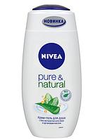 """Крем-гель для душа Nivea """"Pure&Natural"""" 250 ml GIL /62 N"""