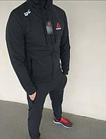 4bd73f597d9 Спортивный костюм мужской темно-серый модный Reebok UFC Рибок ЮФС
