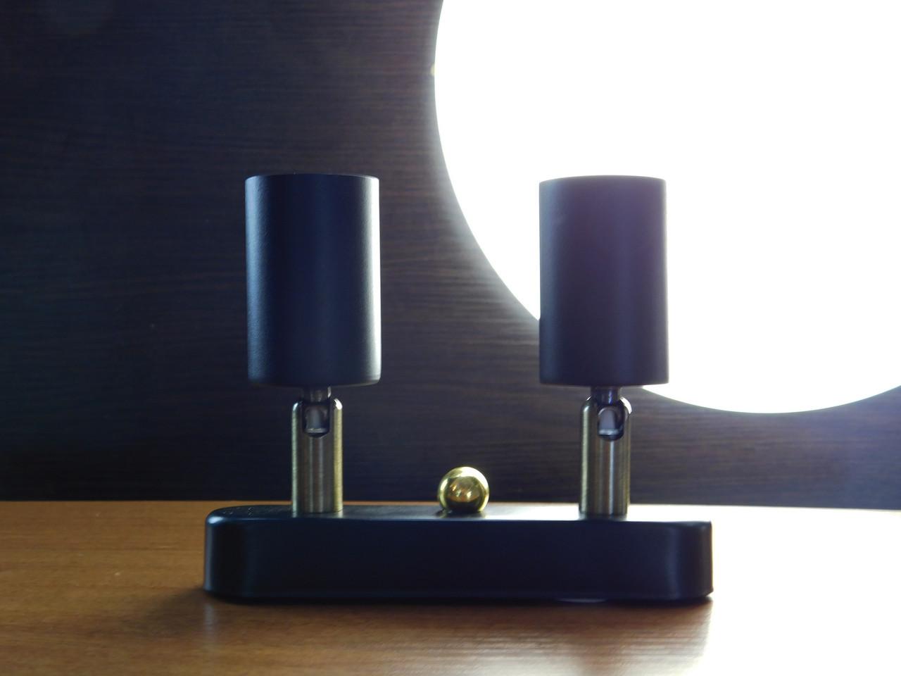 Настенный светильник, спот поворотный, потолочная лампа, на две лампы mini, черный цвет