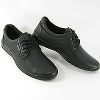 Мужские туфли черные натуральная КОЖА, весна-осень