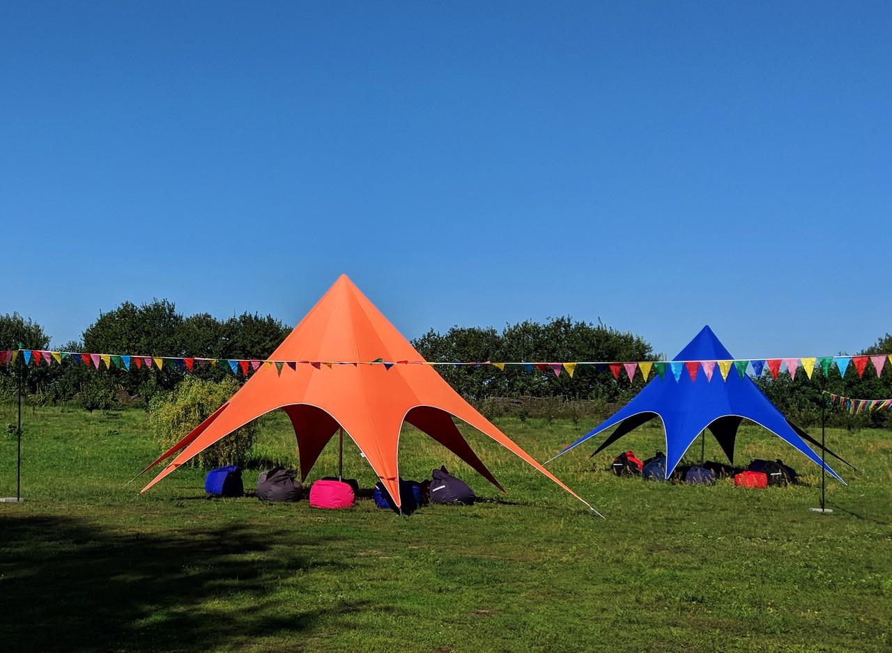Тент Звезда, 10 метровый, оранжевый + Доставка по Украине бесплатно