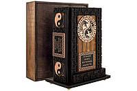 Книга кожаная Большая книга восточной мудрости (Nero) (с подставкой), фото 1