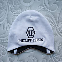 Легкая детская шапка с завязками Philipp Plein, фото 1