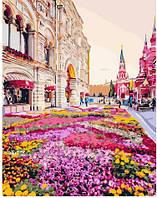 Картина по номерам Розовая клумба (BRM25493) 40 х 50 см