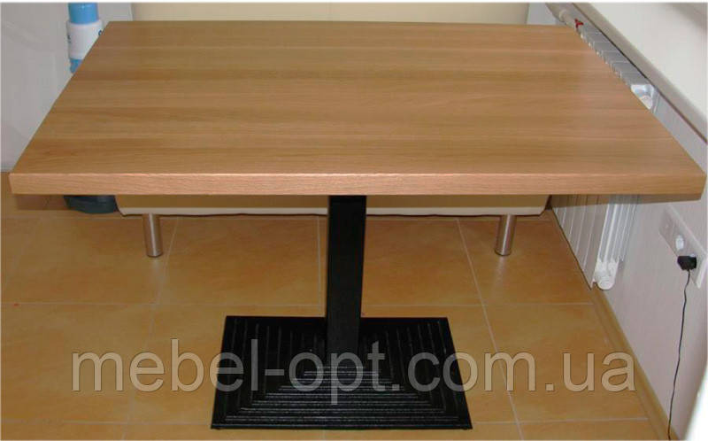 База опора стола Ле Ман Биг черная чугунная 400х800 мм, высота 1100 мм,  для бара, кафе, ресторана