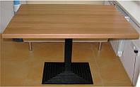 База опора стола Ле Ман Биг черная чугунная 400х800 мм, высота 1100 мм,  для бара, кафе, ресторана, фото 1