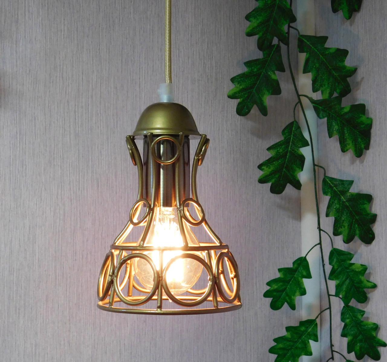 """Подвесной металлический светильник, современный стиль, loft, vintage, modern style """"RINGS-G"""" Е27 , цвет золото"""