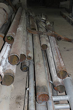 Труба профільна сталева бу 110х5х9700 мм