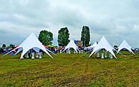 Тент Звезда Киев, 10 м, белый, (с установкой) Доставка бесплатно, фото 1