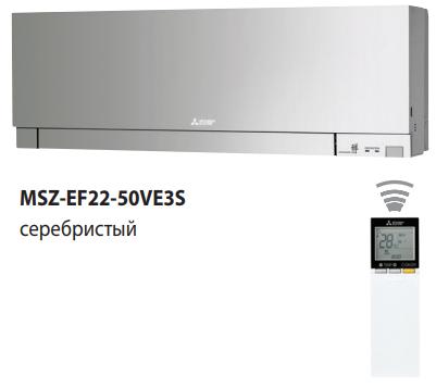 Сплит-система настенного типа Mitsubishi Electric MSZ-EF25VE3S/MUZ-EF25VE
