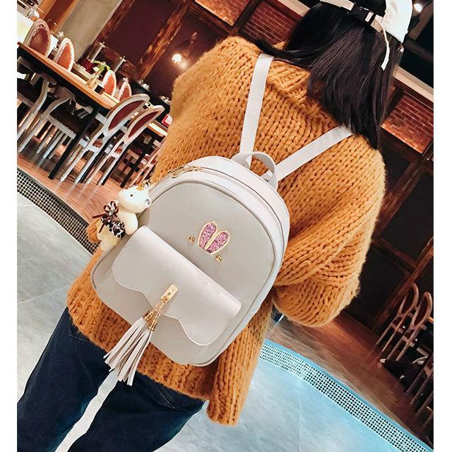 Рюкзак с ушками с набором аксессуаров серый