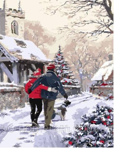 Живопис по номерам Напередодні Різдва (BRM3920) 40 х 50 см