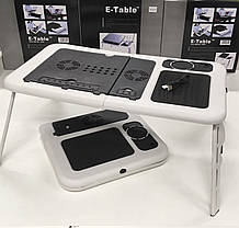 Портативний столик для ноутбука з охолодженням 2 USB кулерами E-Table LD-09 (10)