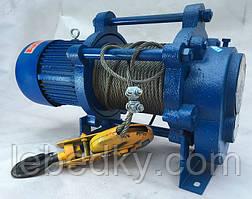 Лебедки электрические 300-1500 кг, 220 В, 380 В, длина троса 30-60 метров
