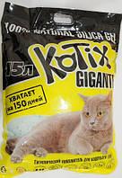 Наполнитель Силикагель для кошачьих туалетов Kotix 15 литров