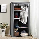 """Тканевый складной шкаф - гардероб """"8890 """" синий, фото 8"""