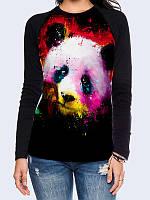 Лонгслив-реглан Панда краски, фото 1