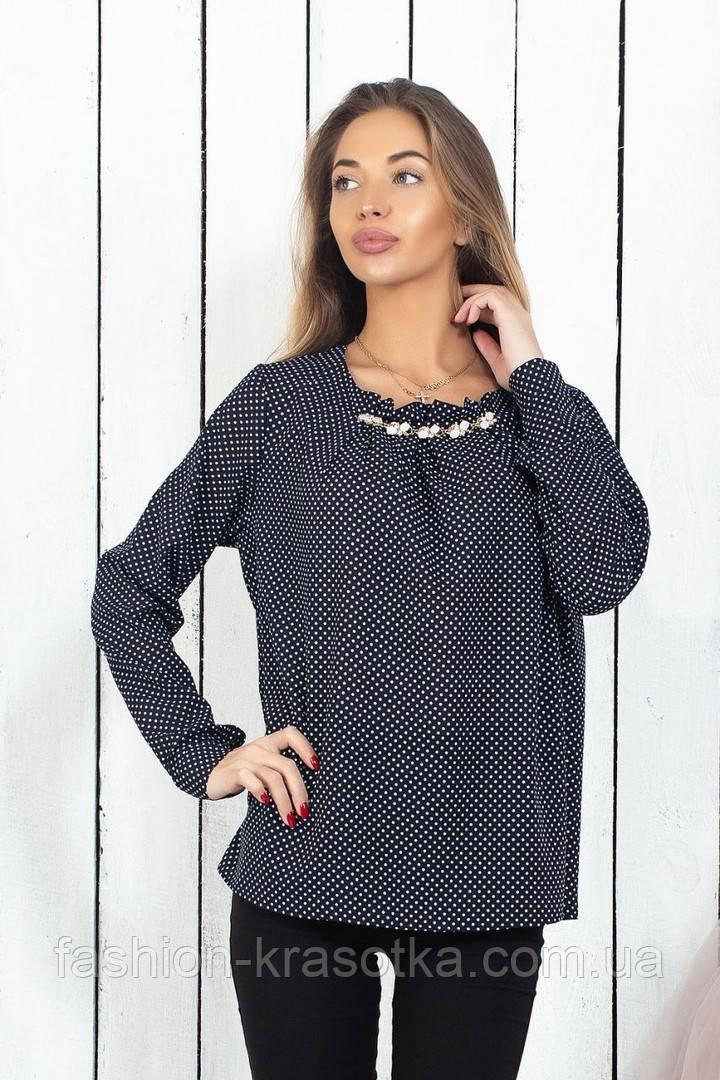 Модная женская шифоновая блузка,размеры 42-44, 46-48, 50-52, 54-56.