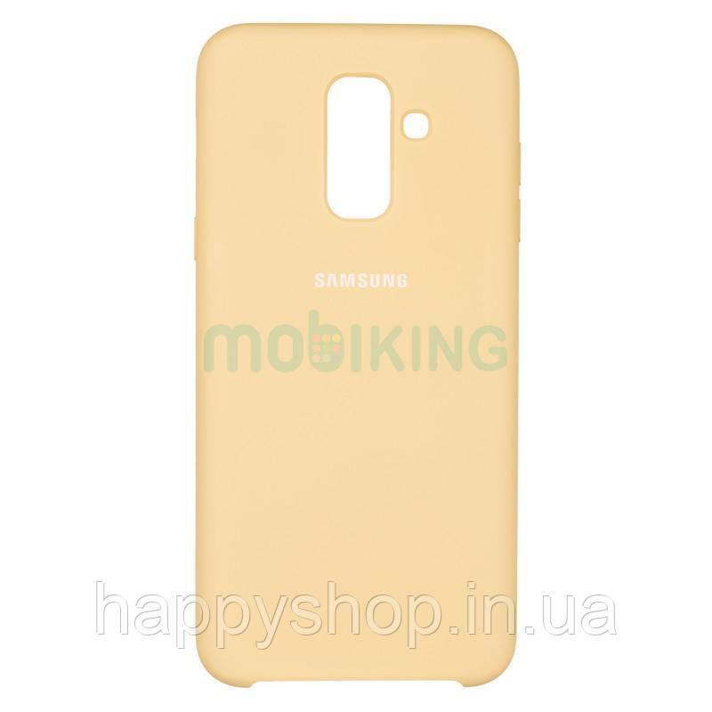 Оригинальный чехол Soft touch для Samsung Galaxy A6 Plus 2018 (A605) Gold