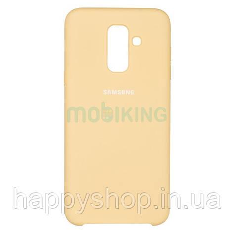 Оригінальний чохол Soft touch для Samsung Galaxy A6 Plus 2018 (A605) Gold, фото 2