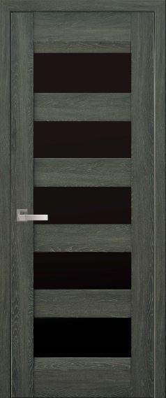 """Дверь межкомнатная с черным стеклом """"BRONX"""""""