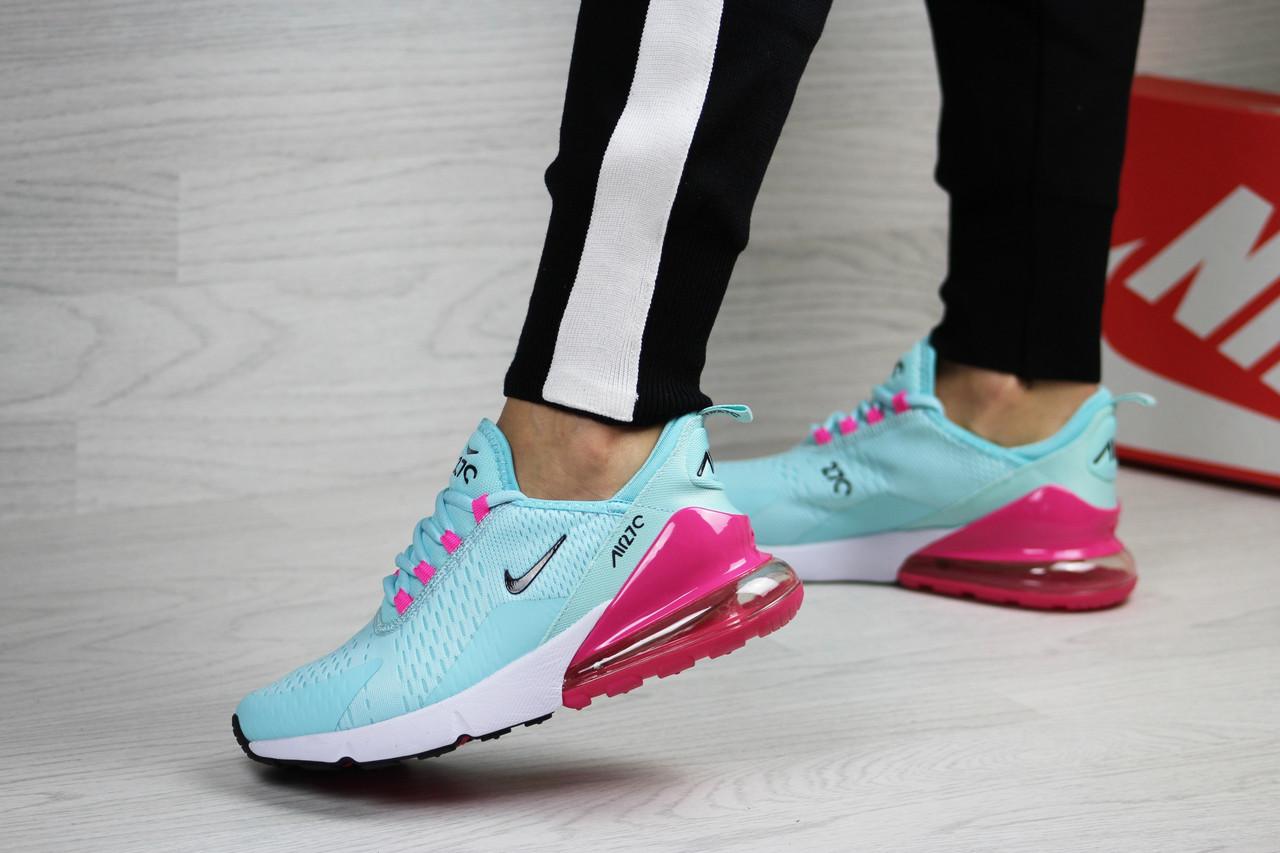 24718af2 Женские кроссовки Nike Air Max 270, мятные с малиновым (ТОП реплика) 39