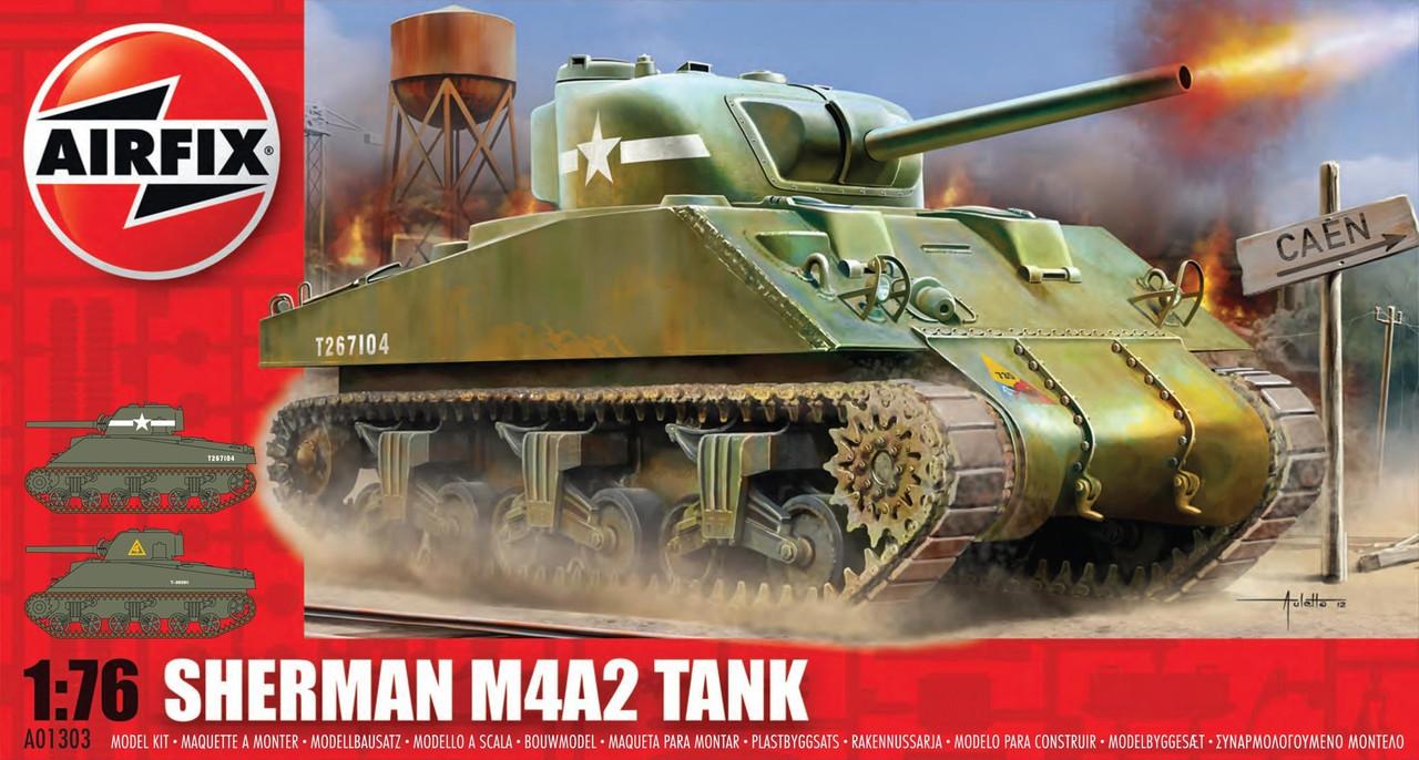 Sherman M4A2. Сборная модель британского танка в масштабе 1/76. AIRFIX 01303