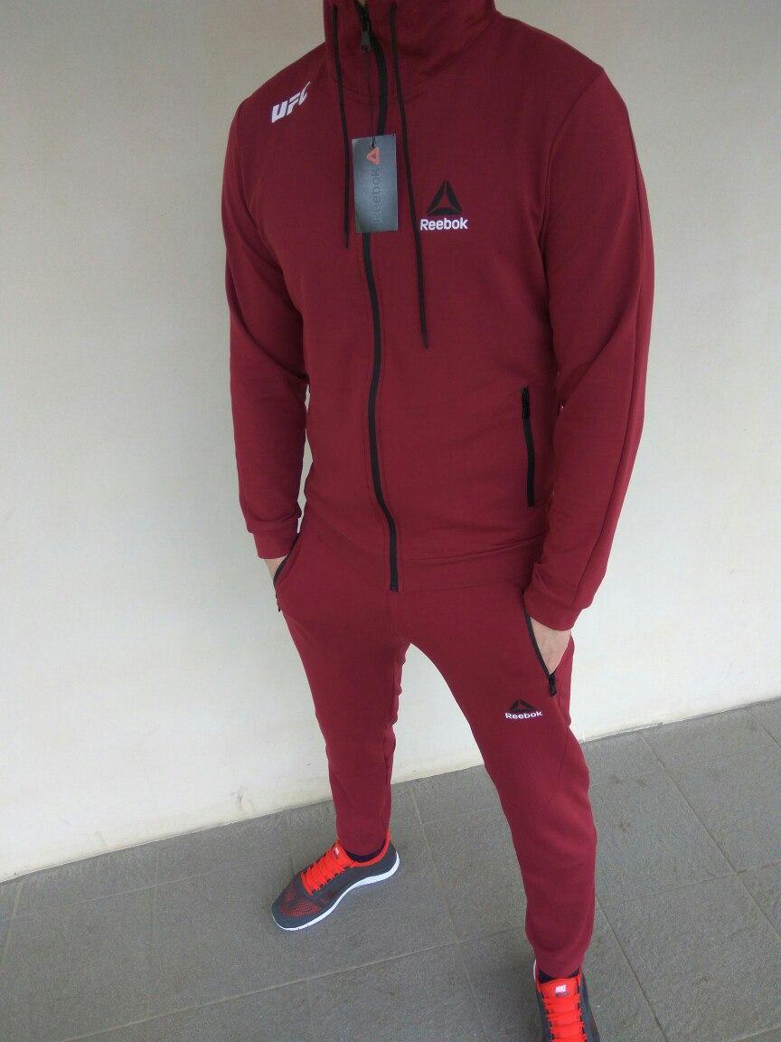 2d3d980c Спортивный костюм мужской бордовый Reebok UFC Рибок ЮФС: продажа ...