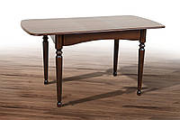 """Розкладний кухонний стіл """"Поло"""" (бежевий або темний горіх) 108см, фото 1"""