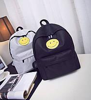 Тканевый рюкзак с радостным смайликом, фото 2