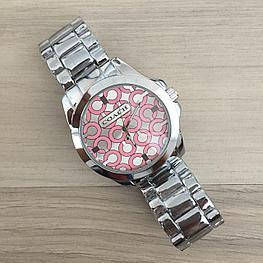 Женские часы серебро браслет Coach Silver в Коробке,  Жіночий годинник,  копия Гарантия