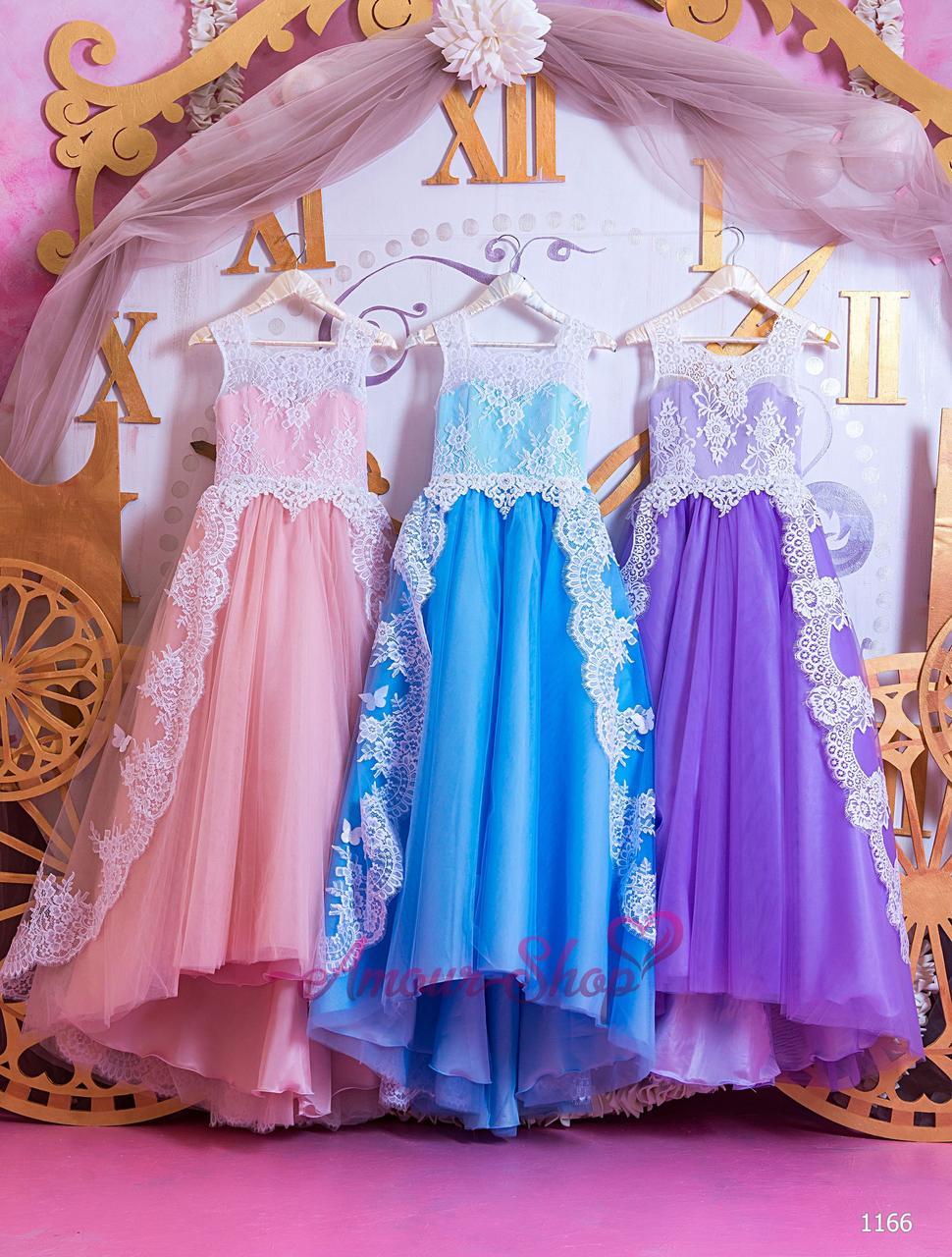 Детское нарядное выпускное платье на девочку 4,5,6,7,8,9,10,11лет (в садик, 4 класс),  1166