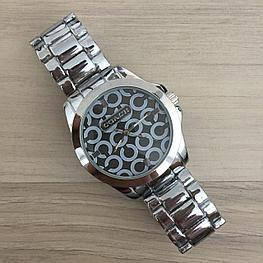Женские часы браслет Coach Silver-Black (серебро - черный цф)в Коробке,  Жіночий годинник, Гарантия