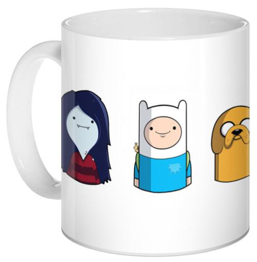 Кружка чашка Adventure Time Время приключений