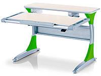 Парта-трансформер MEALUX Harvard TG/Z (столешница береза / накладки зеленые)