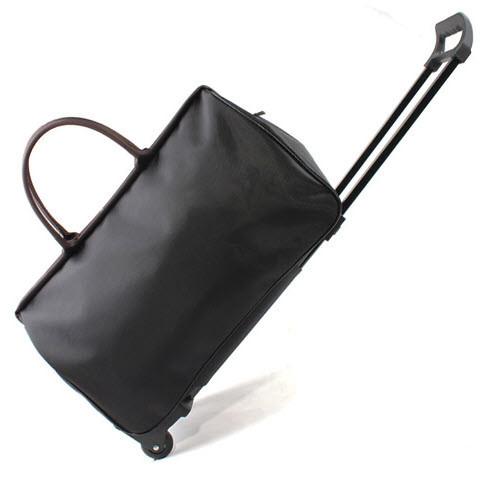 Каркасная дорожная сумка на колесах и с выдвижной ручкой