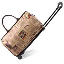 Каркасная дорожная сумка на колесах и с выдвижной ручкой, фото 3