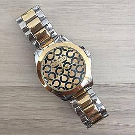 Женские часы браслет Coach Silver-Gold (золото - серебро) в Коробке,  Жіночий годинник, Гарантия, фото 2