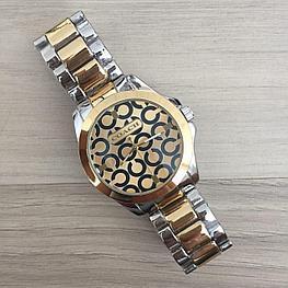 Женские часы браслет Coach Silver-Gold (золото - серебро) в Коробке,  Жіночий годинник, Гарантия