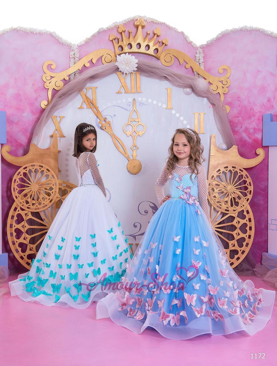 Детское нарядное выпускное платье на девочку 4,5,6,7,8,9,10,11лет (в садик, 4 класс),  1172