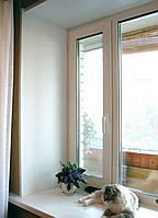 Окно металлопластиковое Rehau e-60 двухстворчатое  1400*1300  с одним откриванием + энергосбережение в Подарок