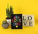 "Открытка с конвертом  ""I love you"" 11х15см, фото 2"