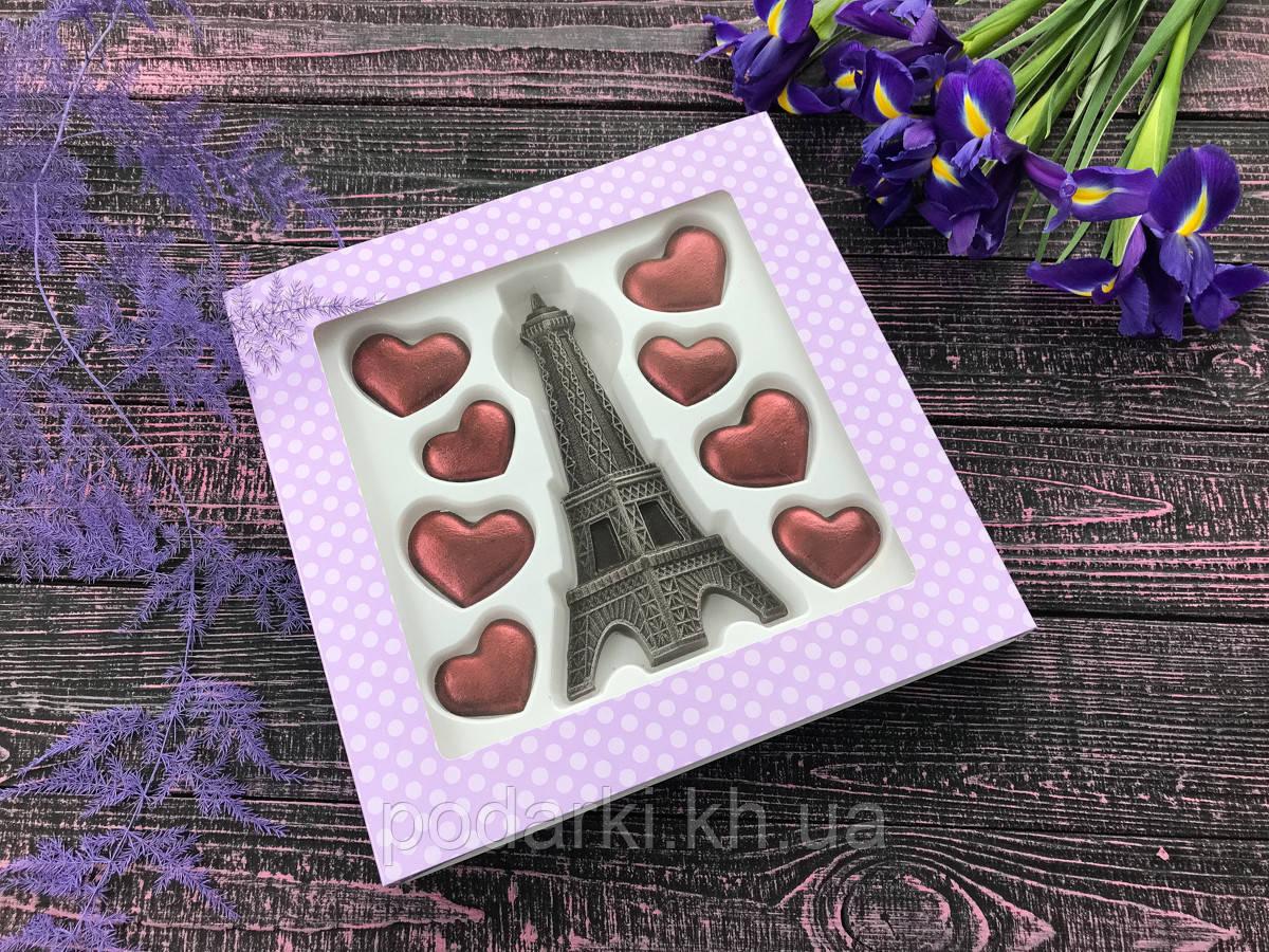 Набор шоколадных фигурок  для жены  из Парижа с Любовью