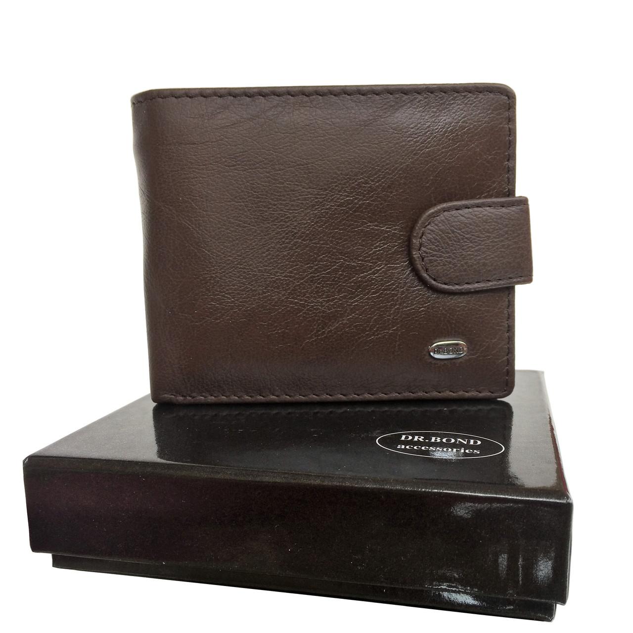 Мужской кошелек Dr. Bond из натуральной кожи. Черный и коричневый цвет., фото 1