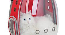 Оригинальный большой прозрачный рюкзак для транспортировки кота , фото 3