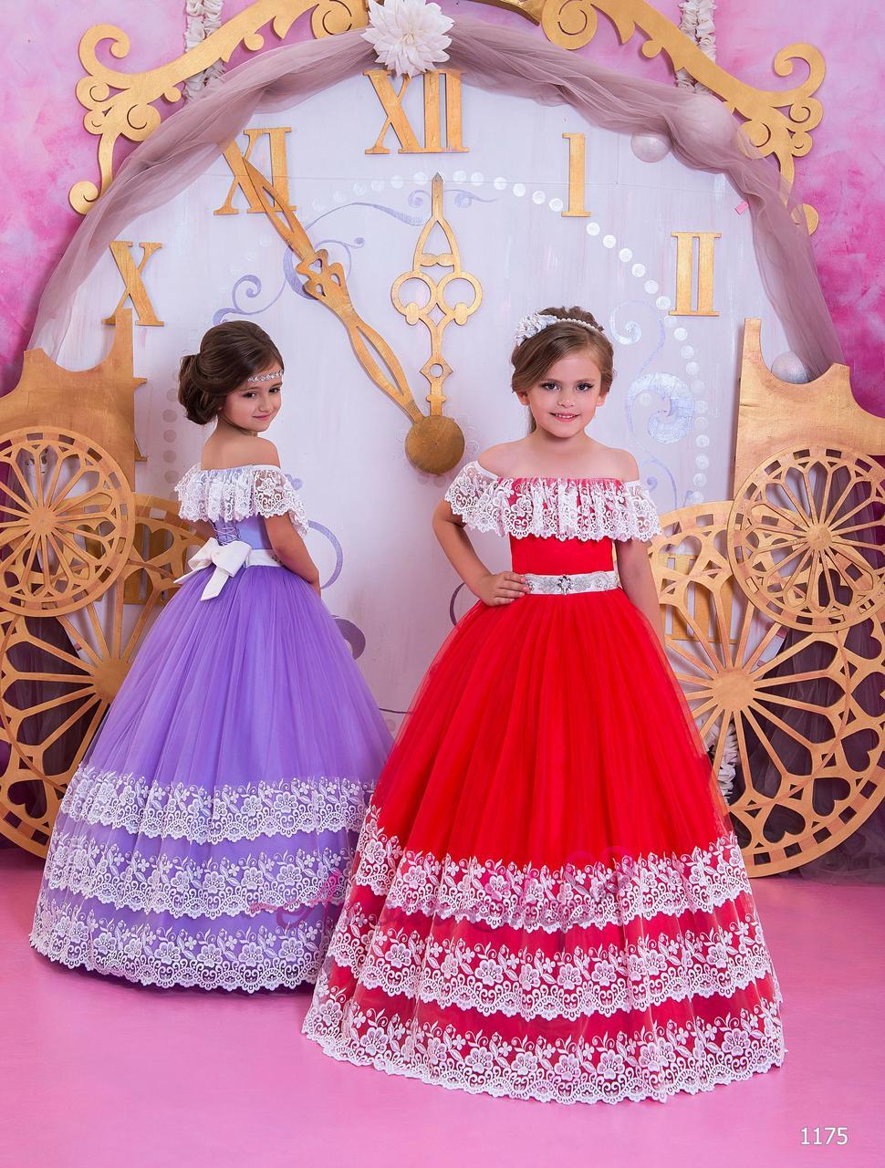 Детское нарядное выпускное платье на девочку 4,5,6,7,8,9,10,11лет (в садик, 4 класс),  1175